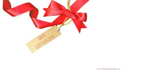 Template For Gift Cards - printable gift certificate templates