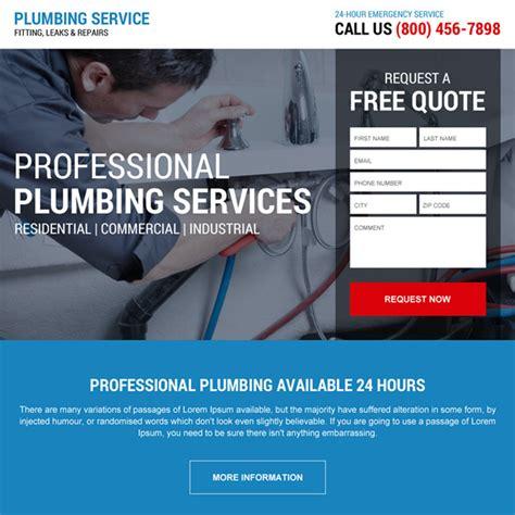 Emergency Plumbing Service Emergency Plumbing Service Responsive Landing Page Design