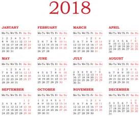 Calendar 2018 Hd Png 2018 Calendar Transparent Png Clip Gallery