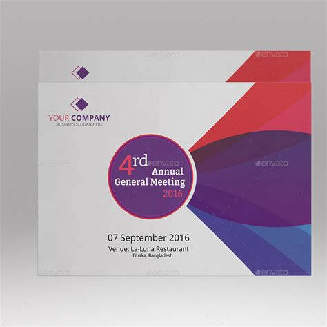 design invitation meeting corporate annual meeting invitation card by ideaz sabbir