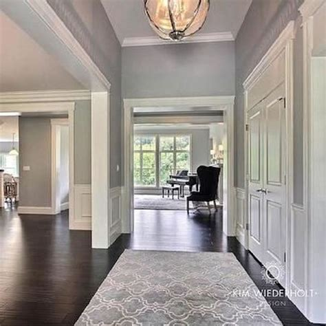 perfect neutral gray paint color home foyer design