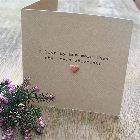 Handmade Mothers Day Cards - handmade personalised i you s day card by