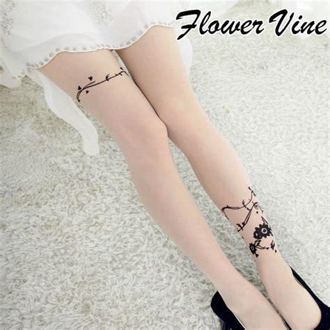 tattoo stockings singapore new sexy women girls tattoo socks cute patterns sheer