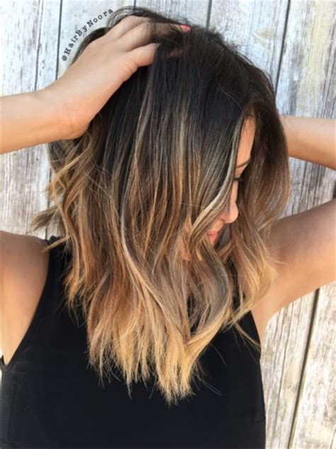 balayage highlight short hair how to how to balayage highlights on brunette lob hair cutting
