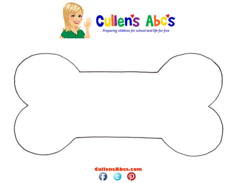 bone template bone preschool and children s by