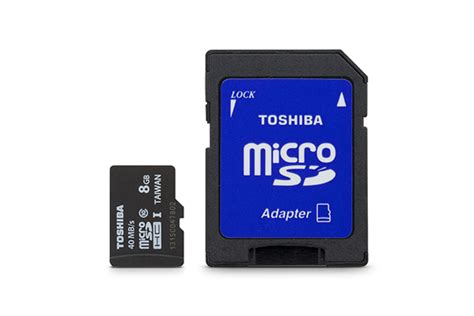 Toshiba Microsdhc Uhs I Class 10 40mbs 8gb Sd C08gr7ar040a Black toshiba pfm008u2dck class 10 uhs i microsdhc card 8gb hr
