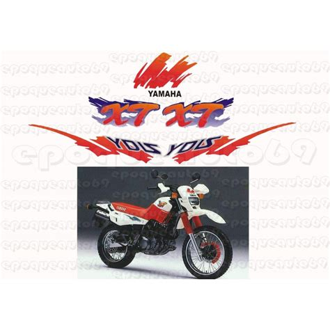 Sticker Yamaha 600 Xt by Autocollants Stickers Yamaha Xte 600 Annee 1990 Epoqueauto69