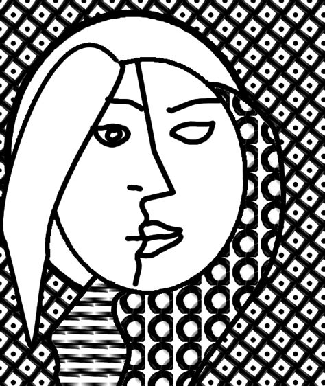 free coloring pages of picasso cubism