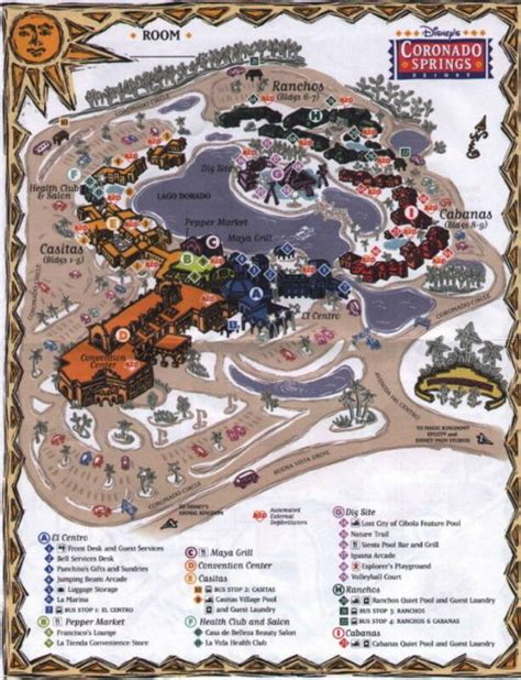 coronado springs resort map coroandospringsmap