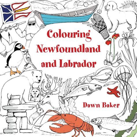 coloring pages of newfoundland colouring newfoundland and labrador flanker press a