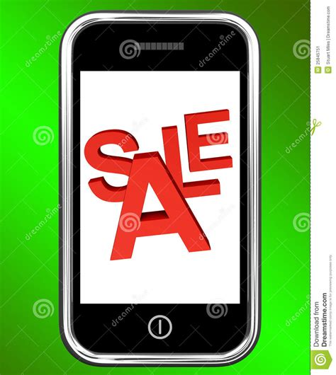 mobile phone sale mobile phone sale screen shows discounts stock