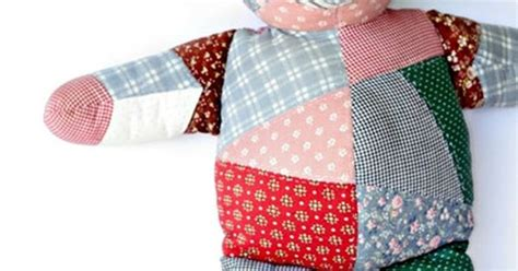 Patchwork Teddy Pattern - vintage calico patchwork teddy house of hatten
