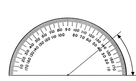 Drawing 40 Degree Angle by Protractor 40 Degrees Clipart Etc