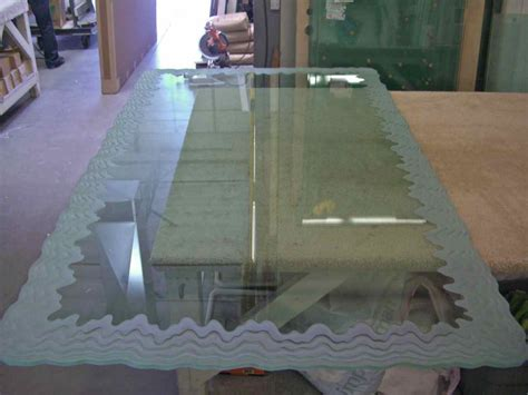 etched glass dining table glass dining table top sans soucie glass