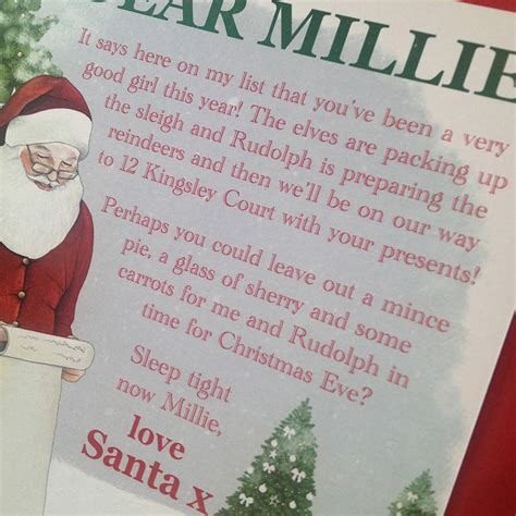 personalised letter from santa charity personalised children s letter from santa by megan