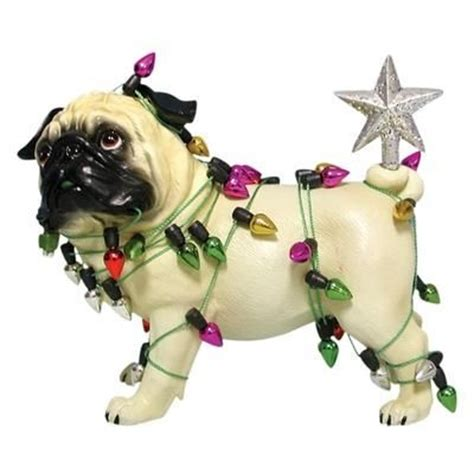 pug christmas ornament pugs pinterest