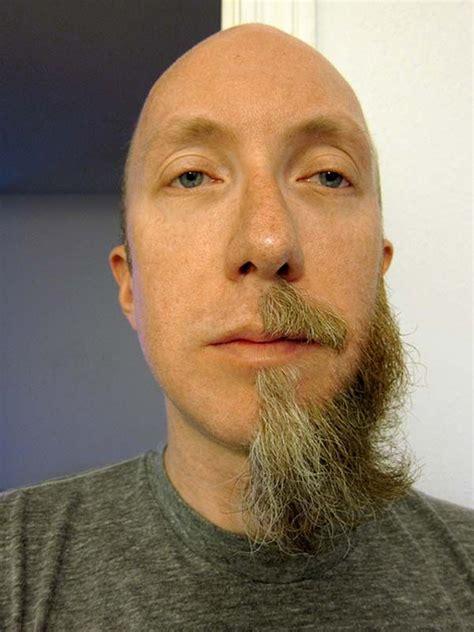 men half shave hair trends half beard weird ugly strange shaving shaved shave people
