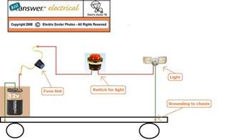 how to wire a 12 volt tractor light on aunit that has headlights and a on switch light will