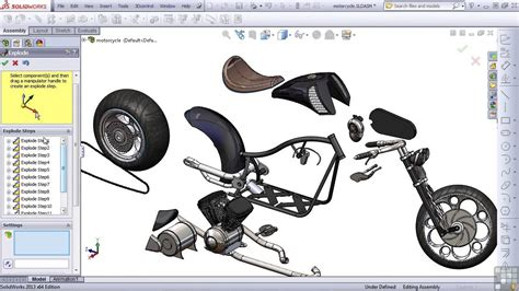 solidworks tutorial how to animate a 6 dof degrees of solidworks 2013 tutorial exploded view youtube