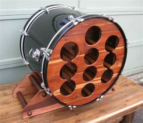 Diy Drum Rack by Upcycled Custom Made Bass Drum Wine Rack Drums Tack And