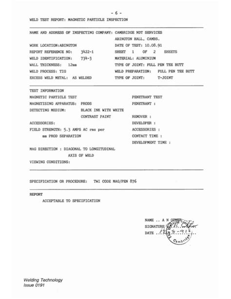 Welding Inspection Report Writing by Welding Inspection Report Template Pictures To Pin On Pinsdaddy