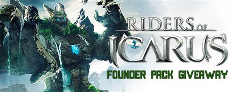 Riders Of Icarus Giveaway - riders of icarus legendary founder pack giveaway mmobomb com