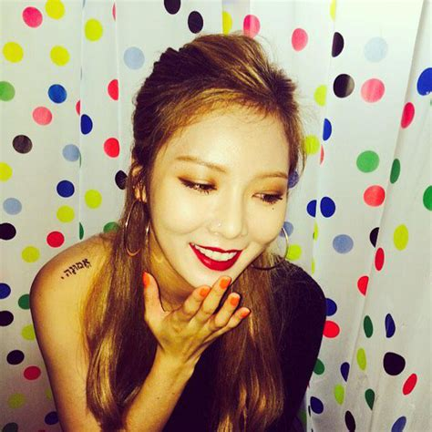 is hyuna the female idol with the most tattoos