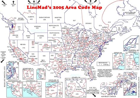 us area codes area code map united states