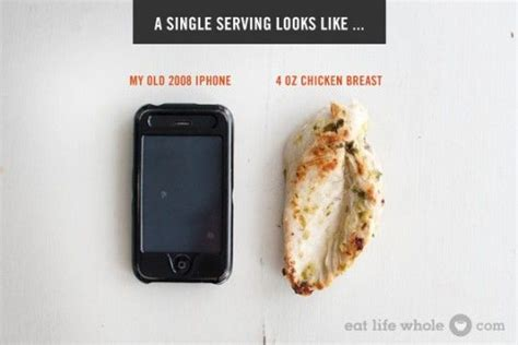 protein 5 oz chicken breast healthy portion sizes compares portion sizes to