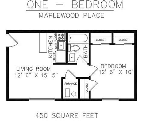 450 square foot apartment floor plan floor plan 450 sq ft house pinterest