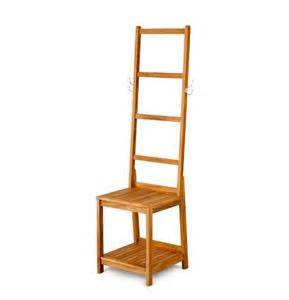 Storage Stool Bathroom Teak Bath Stool Seat With Towel Rack Bathroom Storage Caddies Shelves Ebay