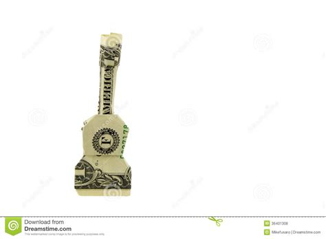 Origami Guitar Dollar Bill - royalty free stock photos origami dollar image 36401308