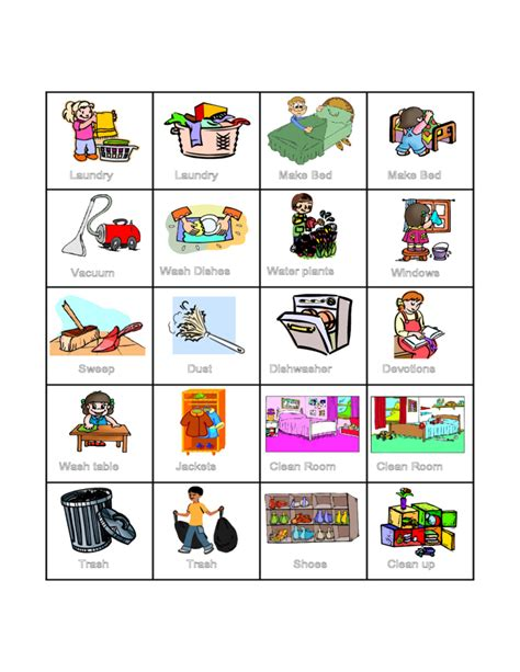 Preschool Kids Chore Chart Template Free Download Preschool Chore Chart Template