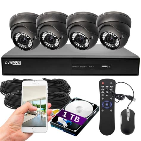 dvr security system best vision 4ch dvr 1080p outdoor 1tb hdd home