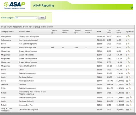 product report template report sles miscellaneous asap