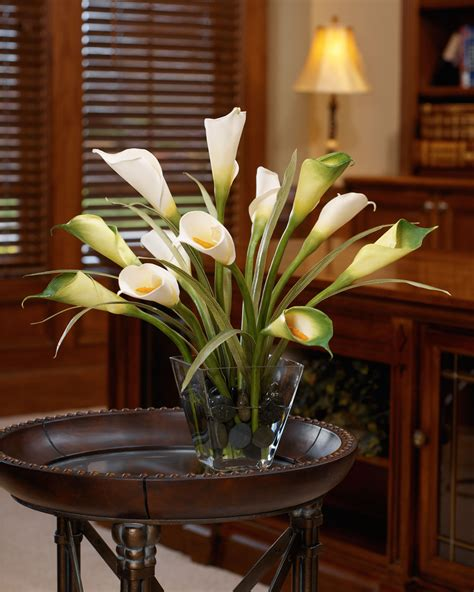 buy calla foliage silk flower centerpiece at