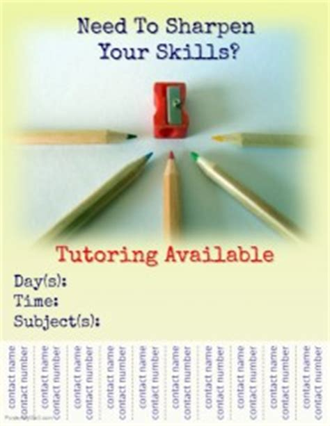 130 Customizable Design Templates For Tutor Postermywall Tutoring Flyer Template Sle