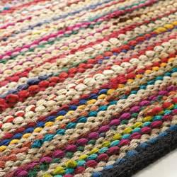 tapis tress 233 en coton multicolore 140 x 200 cm roulotte