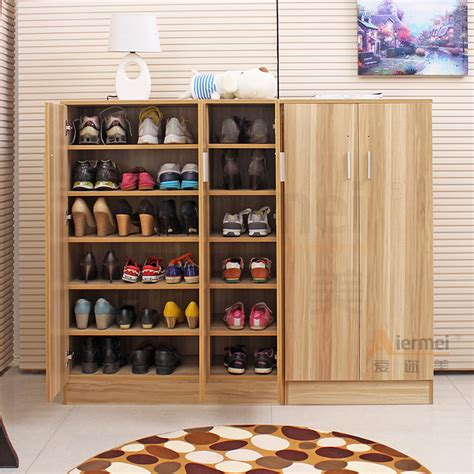 Closet Shoe Shelves Wood by Home Furniture Solid Teak Wood Shoe Storage Cabinet Design