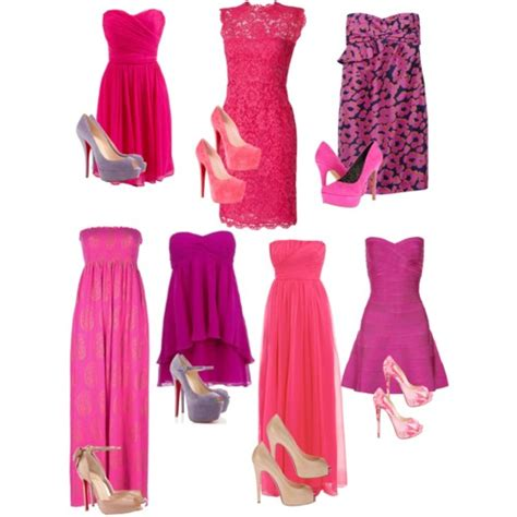 in search of the pink dress and shoes to match