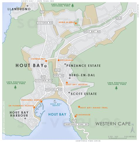 Coffee Table Images by Hout Bay Map