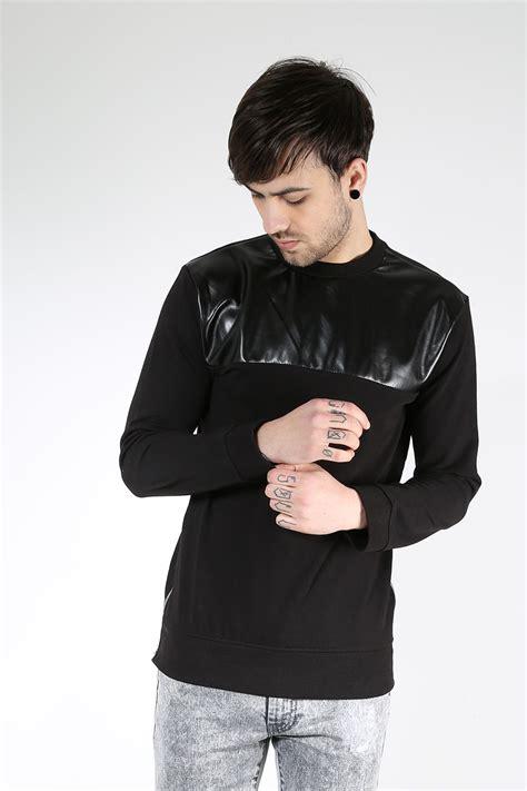 Jaket Sweater Hoodie Zipper Burgerkill 1 King Clothing Exlus king kouture mens side zip pu sleeve crew neck pullover sweats sweatshirt ebay