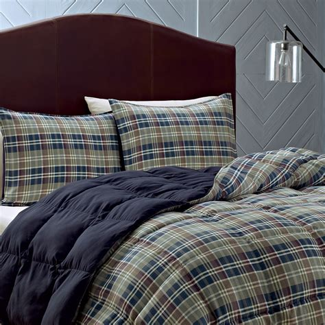 Plaid Comforter eddie bauer rugged plaid comforter set from beddingstyle