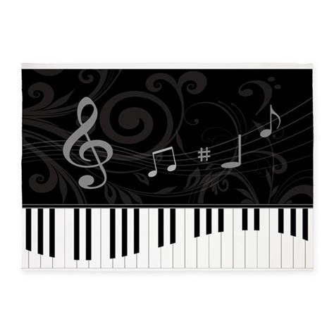 musical rug whimsical piano and musical notes 5 x7 area rug by auslandgifts