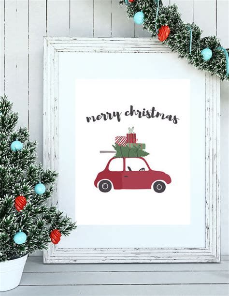 christmas gift tags cards  signs   print   home  garden green