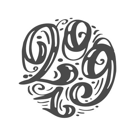 handwritting vector calligraphy text  scandinavian hand drawn  year  christmas