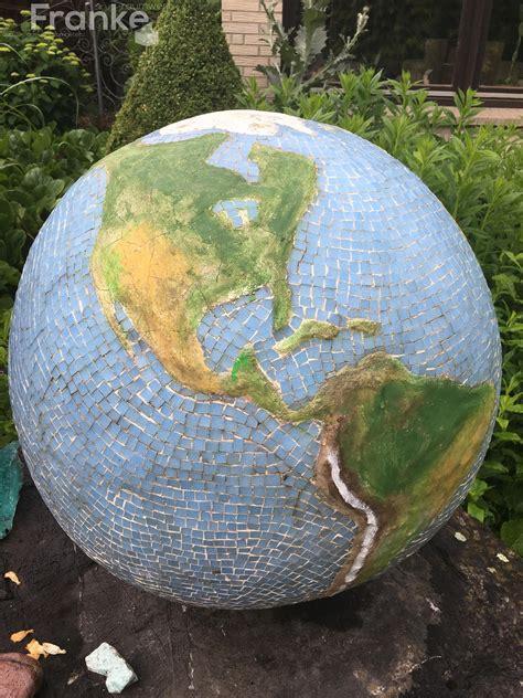 Gartenbeton Globus weltkugel aus beton l 228 nder wurden 1 1 mit kleinsten