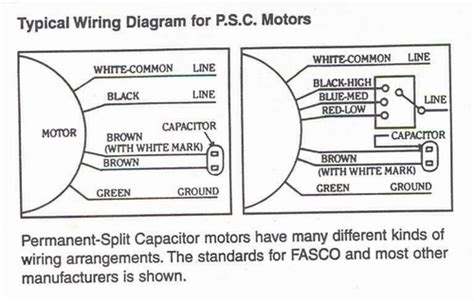 electric fan capacitor wiring diagram psc motor
