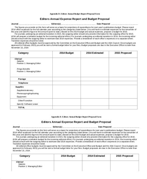 yearly expense report template expense report template 11 free sle exle format