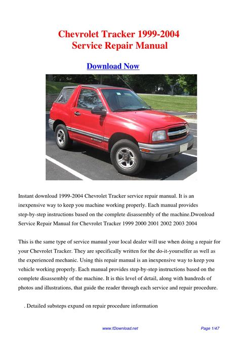 car repair manuals online free 1999 chevrolet tracker navigation system service manual 2003 chevrolet tracker workshop manual automatic transmission free pdf manual